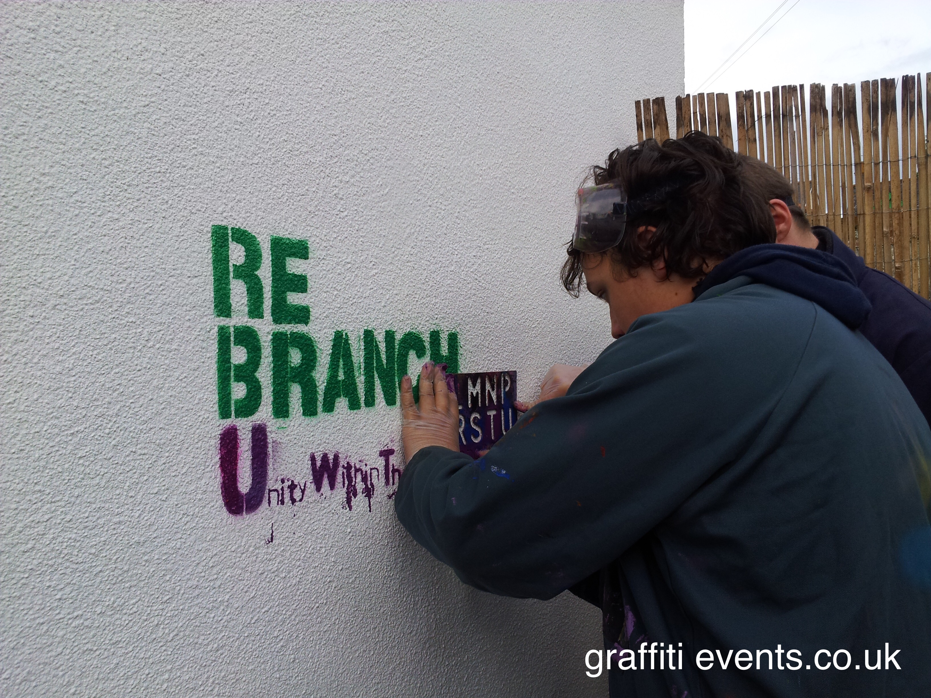 Mural Workshop at Re Branch, Paignton
