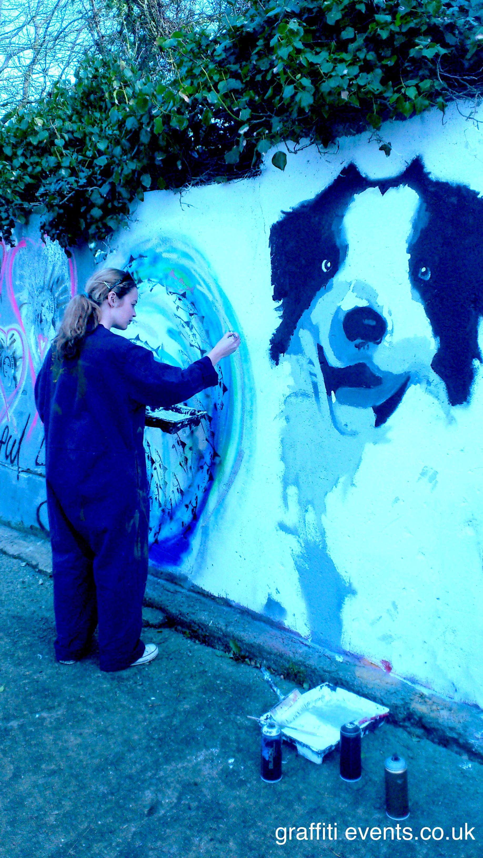 Mural Workshop at Bosoughan Farm, Newquay